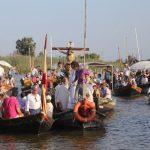 Este sábado romería en barca por el lago de la Albufera del Cristo de la Salud